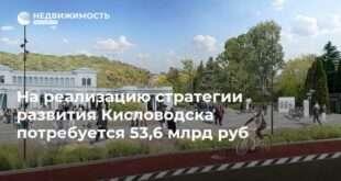 На реализацию стратегии развития Кисловодска потребуется 53,6 млрд руб