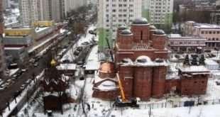 Храм священномученика Ермогена в Зюзине планируется сдать в эксплуатацию в 2022 году