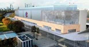 Как проходит монтаж уникального фасада Центра единоборств в Лужниках